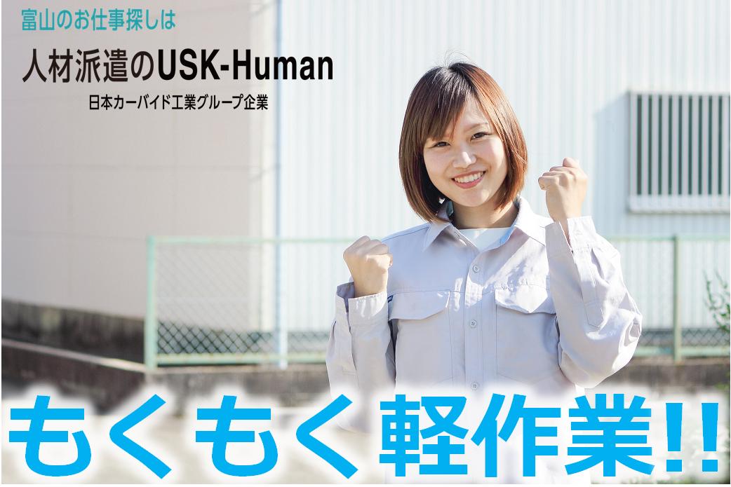 プラスチック製品の組立検査【USKーHuman株式会社】
